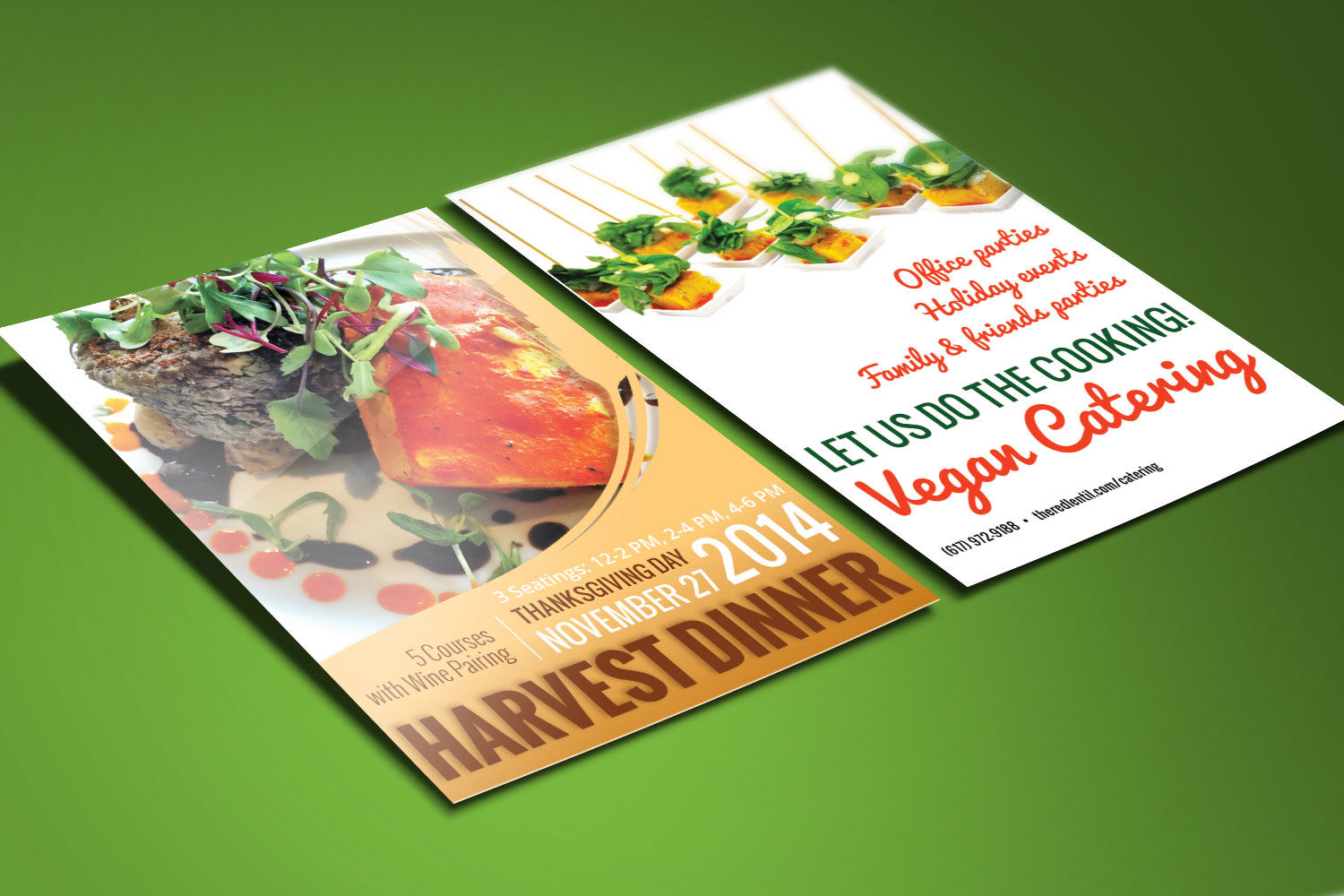 Vegan Restaurant Print Design