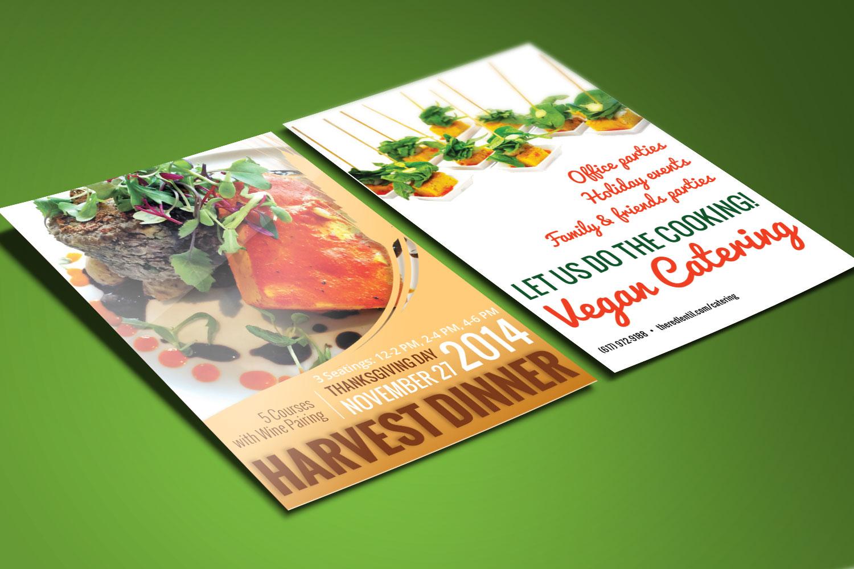 Vegan Restaurant Print Design