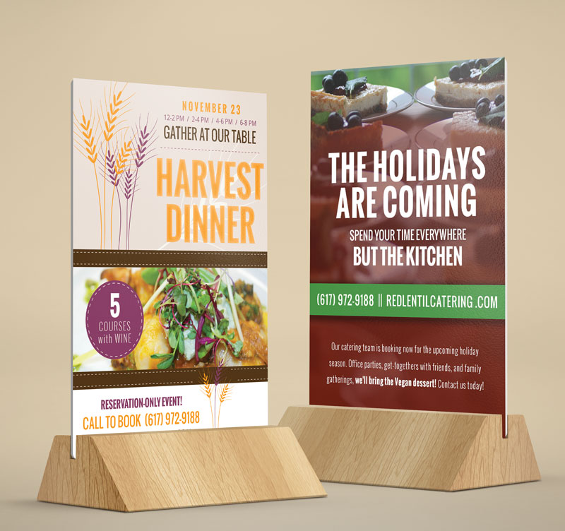 Holiday Table Card Designs