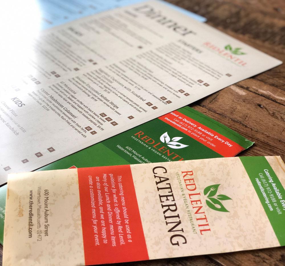Vegan menu redesign