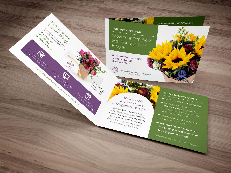 Non-profit trifold brochure