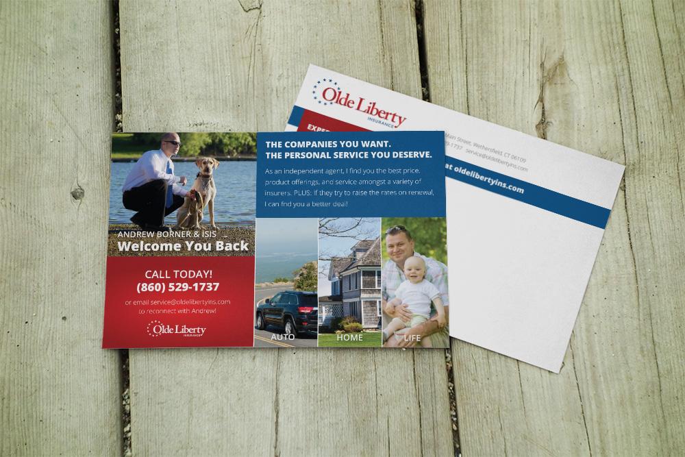 Insurance Postcard Design