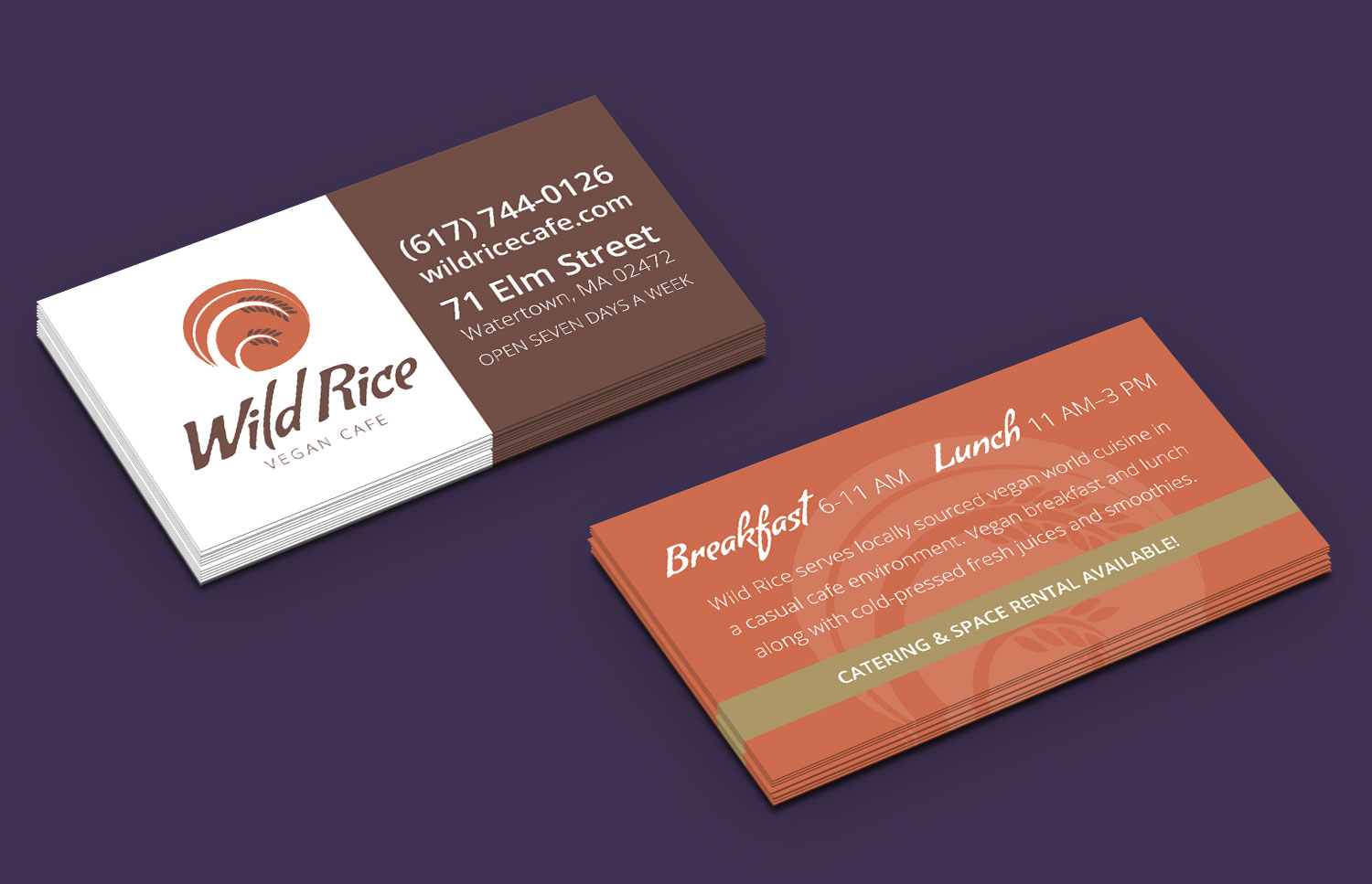 Vegan Restaurant Business Cards
