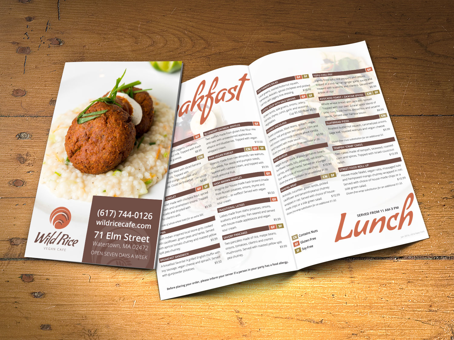 Vegan Restaurant Menu Design