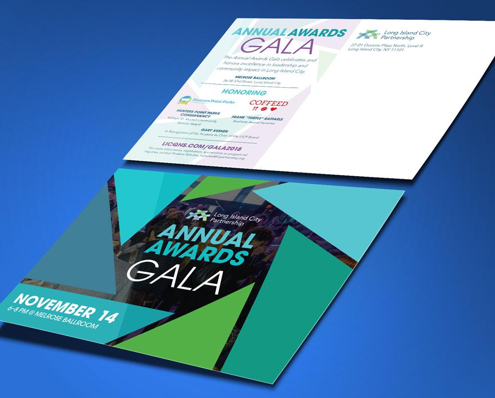 Gala postcard design