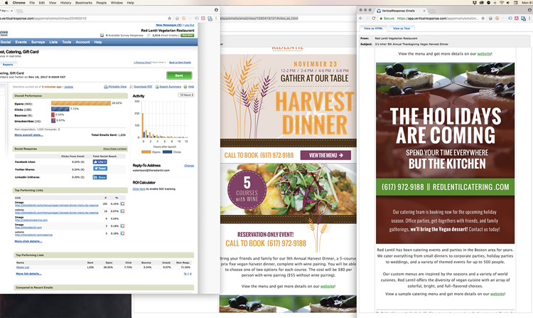 Restaurant Holiday Email Campaigns