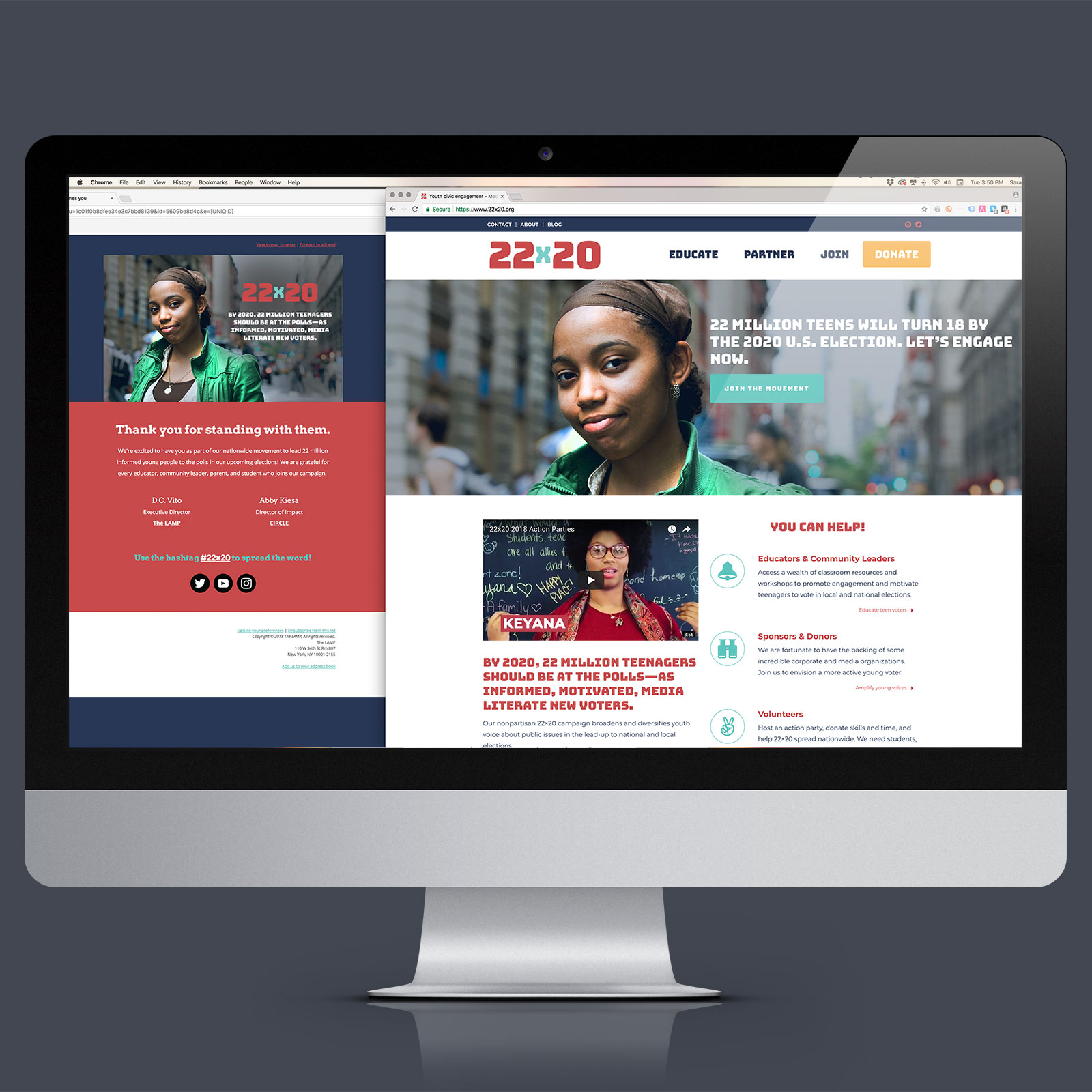 Nonprofit web design and content strategy
