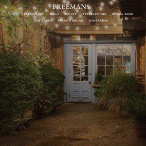 Freemans Restaurant website design
