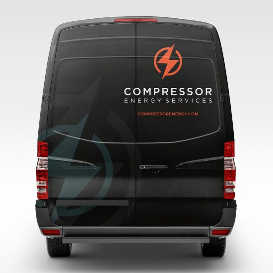 Energy company vehicle graphic