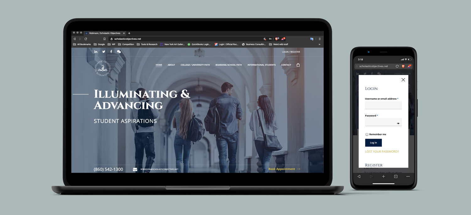 Education responsive website