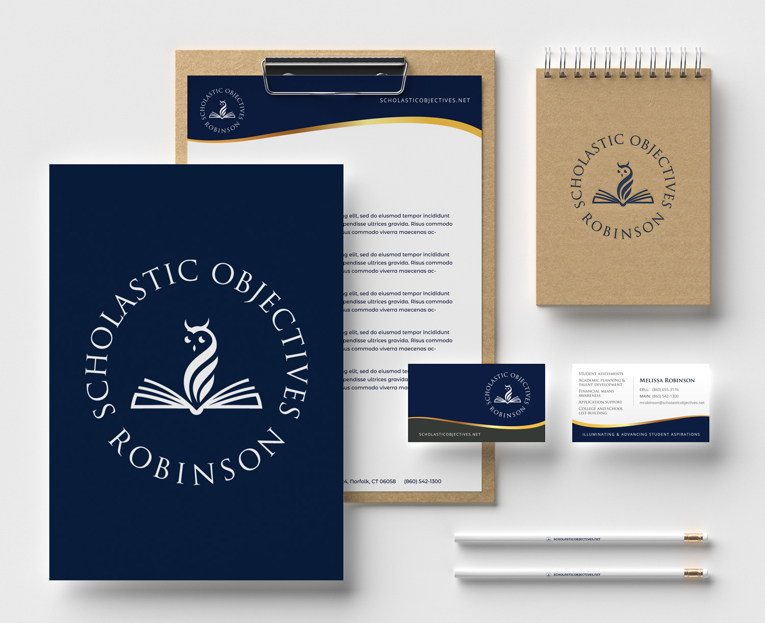 Education brand stationery