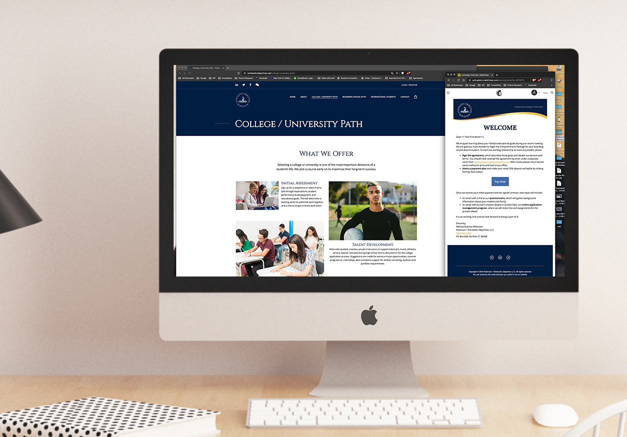 Education brand website redesign