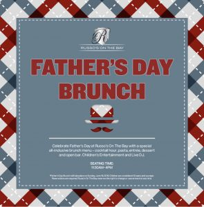 Restaurant event landing page for Father's Day