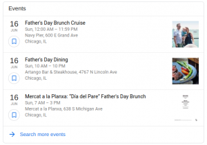 Top search results for Father's Day restaurant events in Chicago