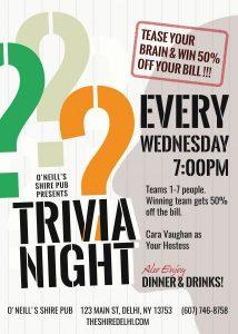 Restaurant Trivia Night