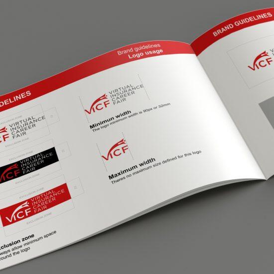 Brand book tech logo design