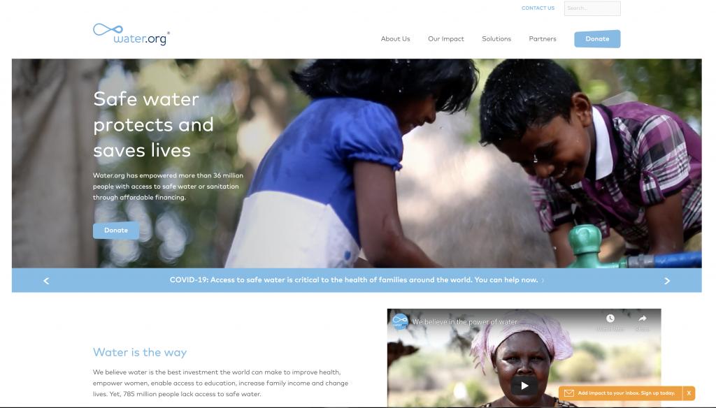 Nonprofit goal messaging